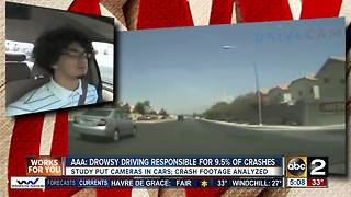 Drowsy driving responsible for almost 10% of crashes, study shows - Video
