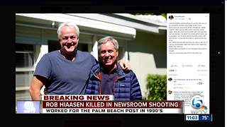 South Florida native, Journalist Rob Hiaasen killed in Maryland newspaper shooting - Video