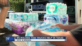 Milwaukee tow company convoys to Texas for Harvey relief - Video