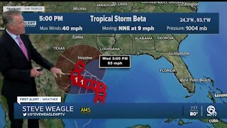 Tropical Storm Beta forms in the Gulf of Mexico; Multiple other systems in the Atlantic