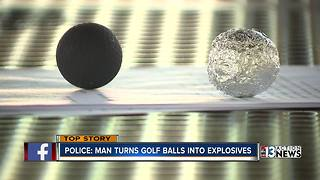 Man indicted after allegedly turning golf balls into weapons - Video
