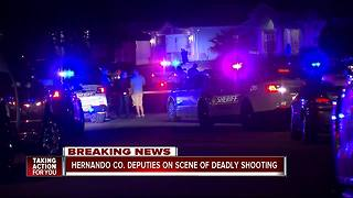 Hernando Co deputies on scene of deadly shooting - Video