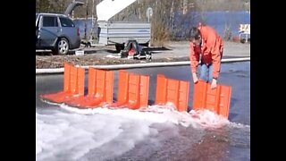GENIUS INVENTION! This flash flood barrier could save your home - ABC15 Digital
