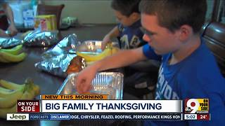 How does a 14-person family do Thanksgiving? - Video