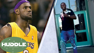 "LeBron James Calls L.A. ""Home,"" Zach Randolph BUSTED for Weed -The Huddle - Video"