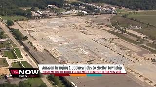 Amazon bringing 1,000 jobs to Shelby Township - Video