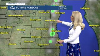 Partly cloudy and isolated showers possible for Thursday