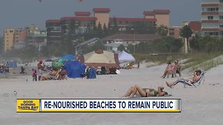 Re-nourished beaches to remain public - Video