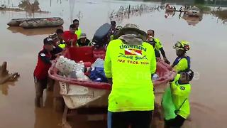 Survivors taken to hospital days after Laos dam collapse - Video