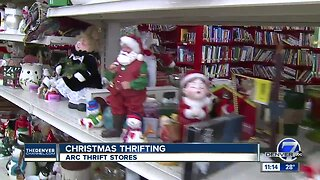 Christmas thrifting at Arc Thrift Stores