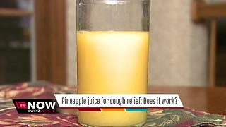 Pineapple juice for cough relief - Video