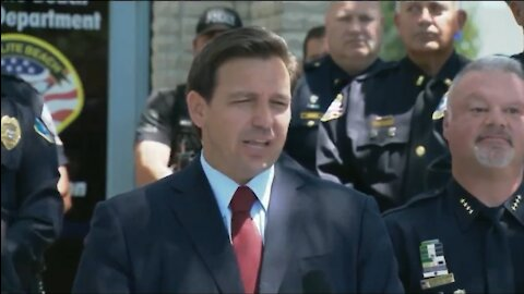 Fl. Governor Commits to FUNDING The Police: Announces Bonuses For Law Enforcement