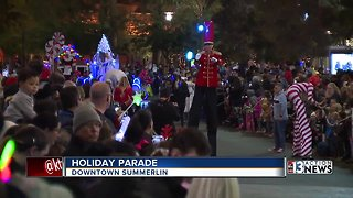 Holiday Parade held in Downtown Summerlin - Video