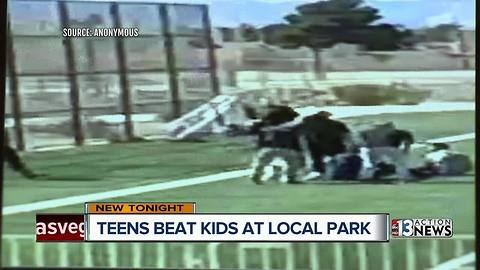 Teens viciously beat up children at local park