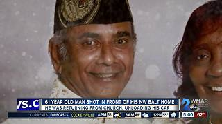 61-year-old shot after getting home from church - Video