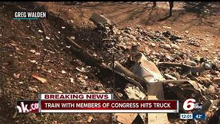 Train carrying four Indiana lawmakers crashes into truck on way to W. Va. - Video