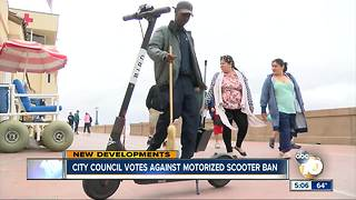 City Council votes against scooter ban