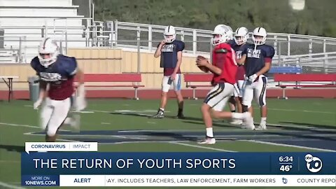 Some high school, youth sports can resume practicing
