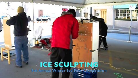 Ice Sculpting - 9th Annual Winter Ice Fest Competition In KC