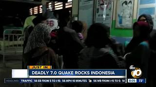Deadly 7.0 quake rocks Indonesia