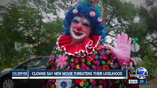 Real-life Denver clowns say they're losing work over 'It' movie - Video