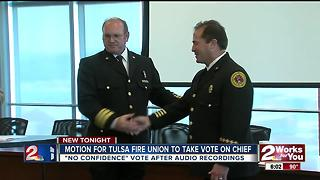 Motion for Tulsa Fire Union to vote on Chief - Video