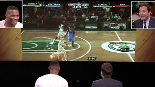 Russell Westbrook Gets SCHOOLED by Jimmy Fallon in NBA Jam - Video