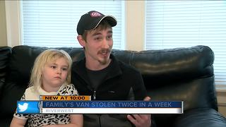 Family's van stolen twice months after moving to Riverwest - Video
