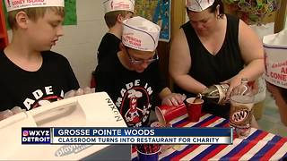 Metro Detroit class turns classroom into coney island for charity - Video