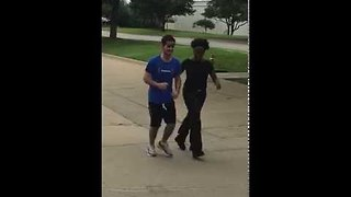 Guy Runs For First Time After Coma - Video