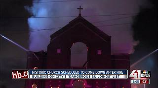Fire destroys abandoned church in East Bottoms