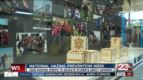 National Hazing Prevention Week at CSUB