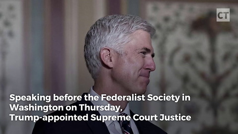 Gorsuch Defends Conservative Approach to Constitution