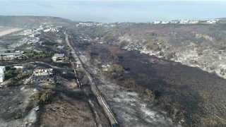 Drone Footage Shows Extent of South Africa Wildfires