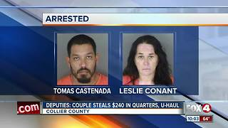 Deputies: Couple steals coins from washing machine - Video