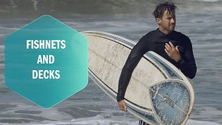 From fishing nets to Decks: An ocean trash wipe-out - Video