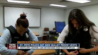 St. Pete Police get new body armor vests - Video