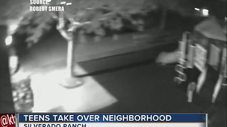 Teens take over neighborhood - Video