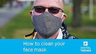 How to clean and sterilize your homemade face mask