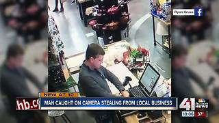 Cameras catch man robbing local Lawrence store