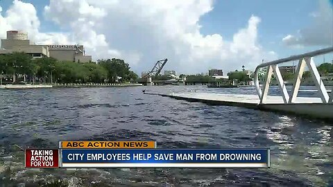 City of Tampa employees help save man from drowning