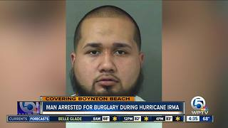 Boynton Beach man charged with burglary during Hurricane Irma - Video