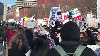 Students Stage Demonstration One Month After Parkland Shooting
