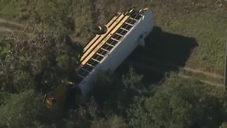 Students airlifted to hospital after bus crash | Digital Short - Video