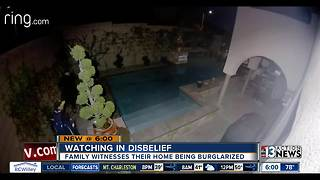 Family watches home being burglarized