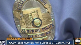 Surprise police looking for volunteers for Citizen Patrol - Video