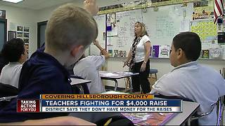 Hillsborough teachers asking for help to get $4K raise promised by district - Video