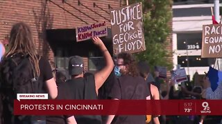 People march across Cincinnati during 2nd day of protests
