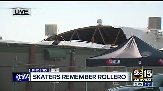 Skaters remember Rollero skating rink after roof collapse - Video
