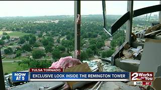 Inside look at the Remington Tower, badly damaged by tornado - Video
